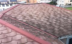 屋根の色あせ劣化
